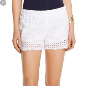 Lilly Pulitzer target collection white shorts